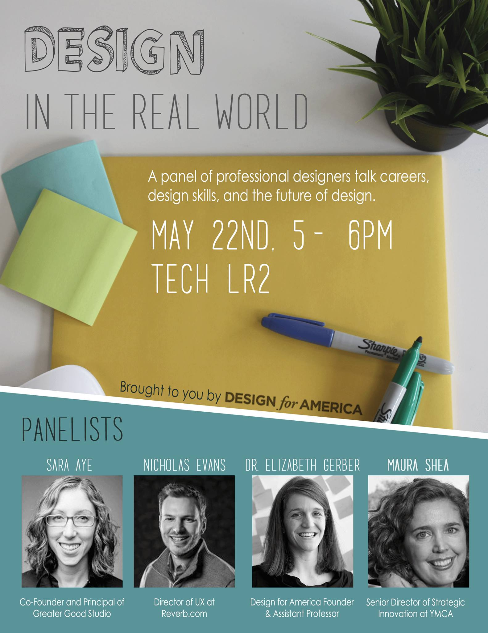 Design in the Real World Panel Flyer